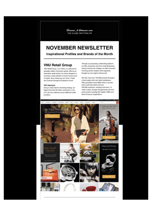 November Newsletter - VNU Retail Group