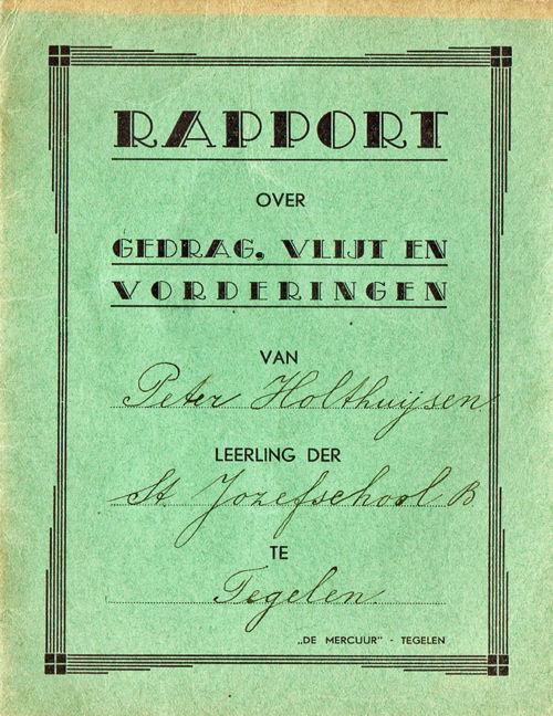 Rapport St. Jozefschool B 1941-1949