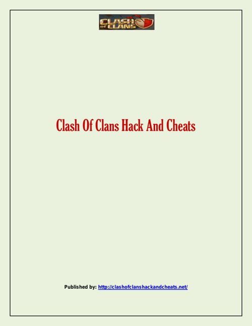 Clash Of Clans Hack And Cheats