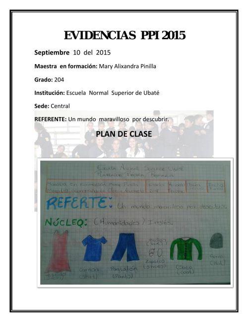 Evidencias -  10  de  septiembre