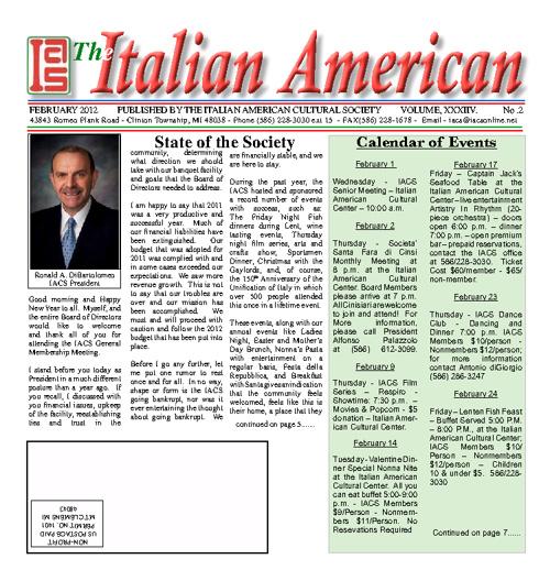 The Italian American - February 2012