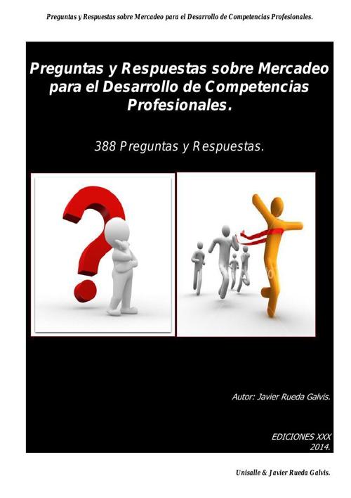 LIBRO PREGUNTAS Y RESPUESTAS SOBRE MERCADEO