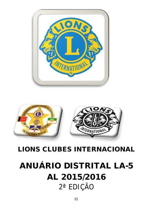 ANUÁRIO DISTRITAL LA-5 AL 2015/2016