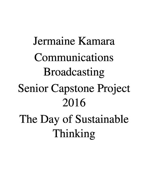 The Day of Sustainable Thinking