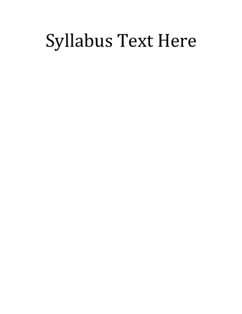 Flipbook Example - Syllabus