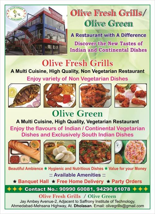 Olive Green Menu