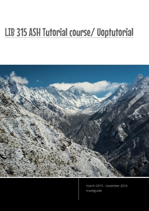 LIB 315 ASH Tutorial course/ Uoptutorial
