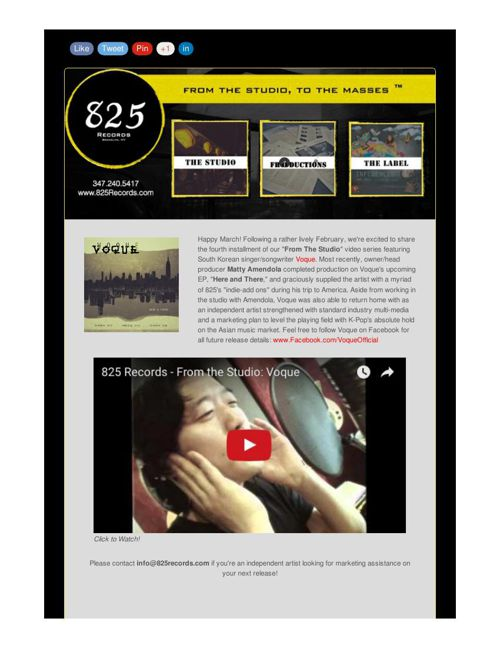 825 Records Newsletter Archive
