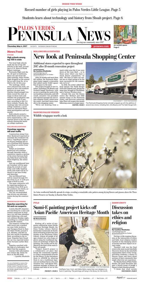 Peninsula News | May 4, 2017