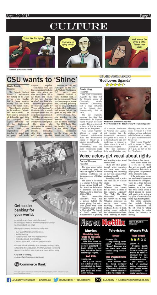 Sept. 29 issue of the Legacy