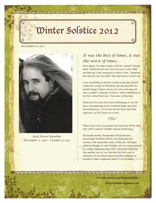 2012 Solstice Letter