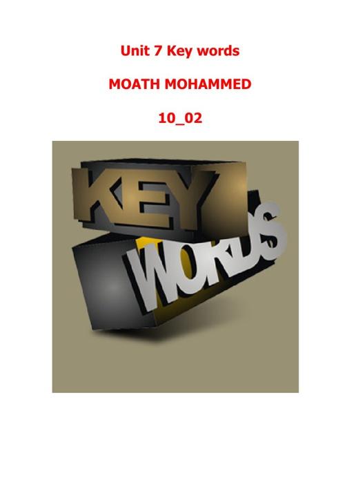 MOATH 10-02 _ U.7 (10 words)