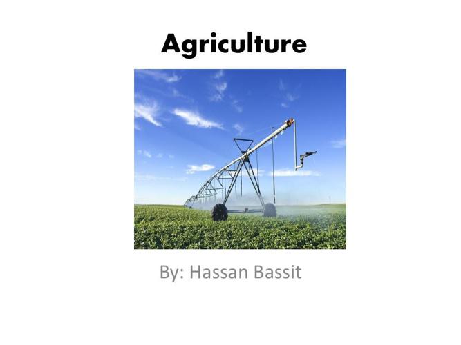 Agriculture Hassan Bassit