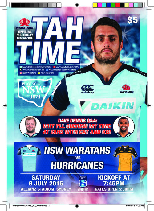 WARATAHS V HURRICANES MATCH PROGRAM