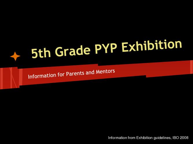 Copy of IB Exhibition Mentor Information