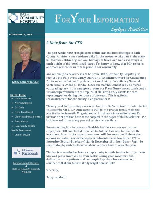 2015 Nov - Newsletter