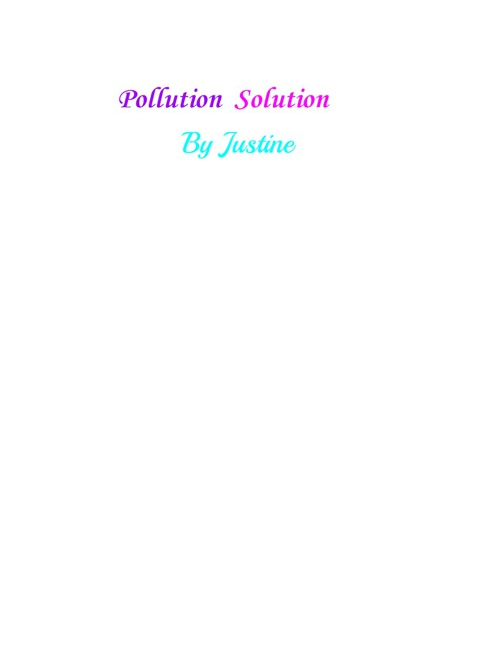Pollution Sollution