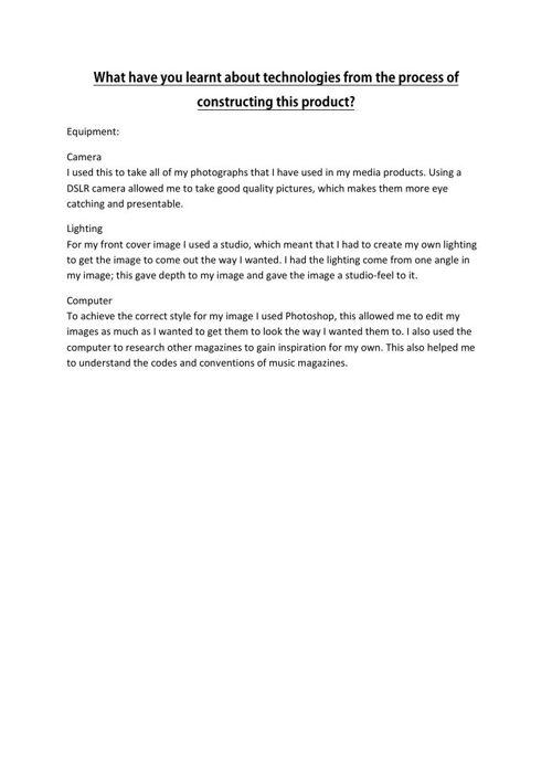 Evaluation Q6