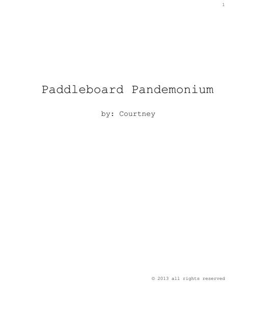Paddleboard Pandemonium