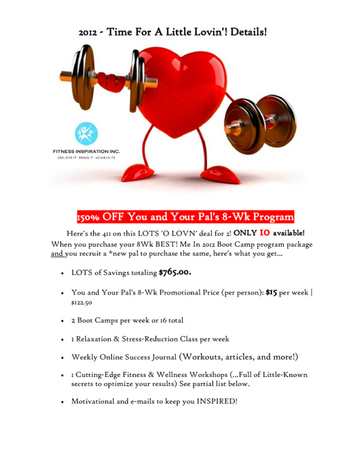 Feb 2012 - Details: Showing You The Love Promotion!