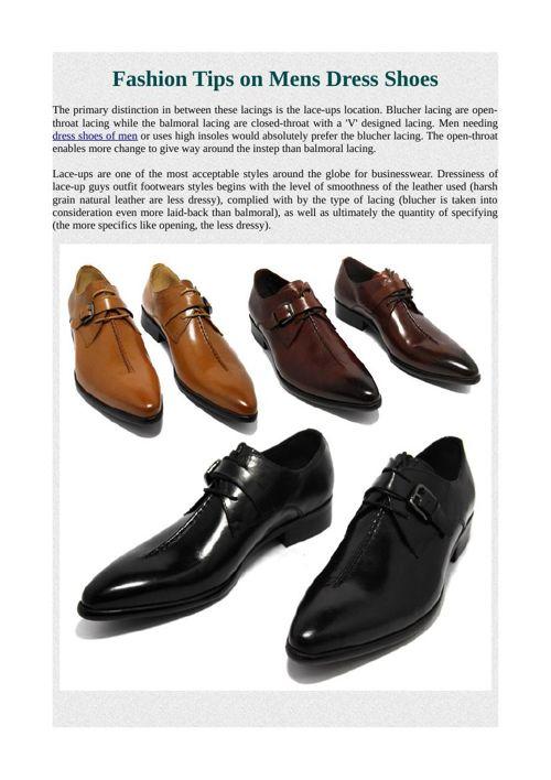 Fashion Tips on Mens Dress Shoes