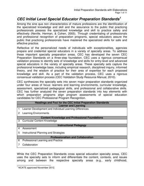 New CEC Standards