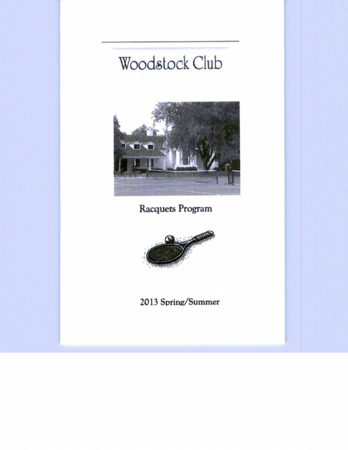 2013 Tennis Booklet
