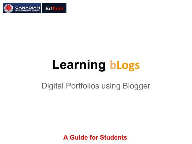 Learning bLogs for Students
