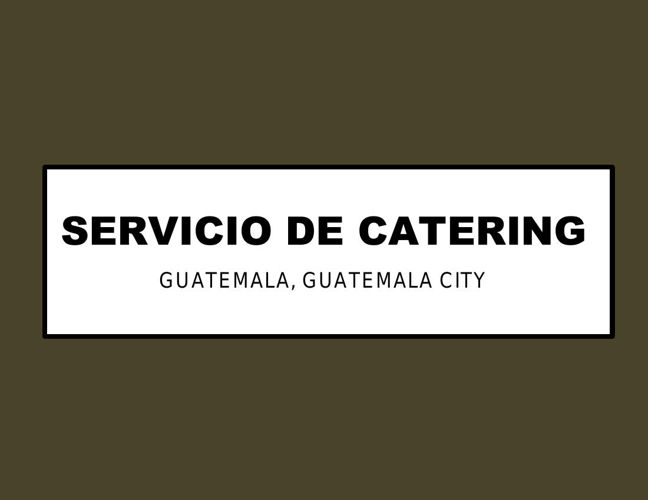 CATERING 8