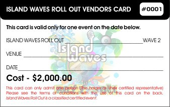 Island Waves Roll Out _ Vendors Card