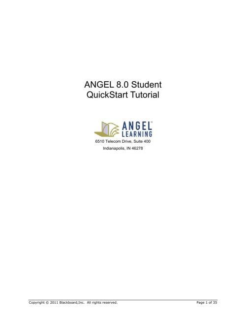 ANGEL_8.0_Student_QuickStart_Tutorial