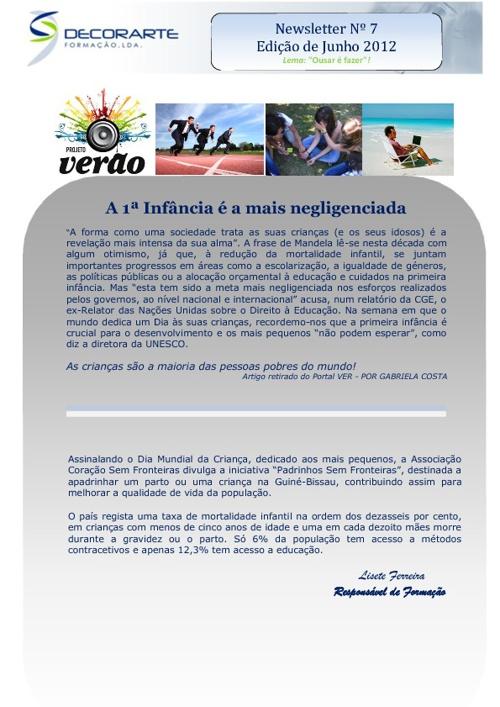 Newsletter de Junho 2012