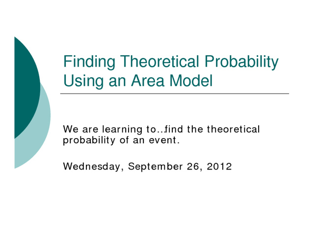 AQR Homework - Area Models