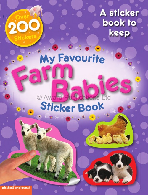 Picthall and Gunzi: My Favourite Sticker Activity – Farm Babies
