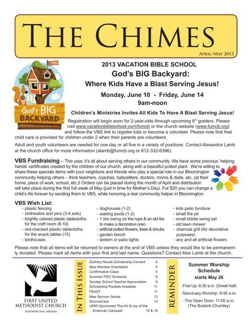 Chimes: April-May 2013 Edition