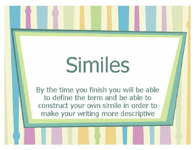 Similies, A 4th Grade Lesson