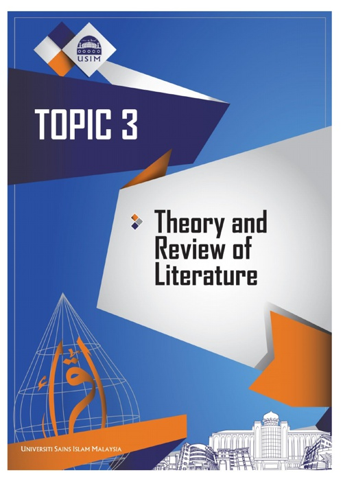 TOPIC 3 - THEORY AND REVIEW OF LITERATURE