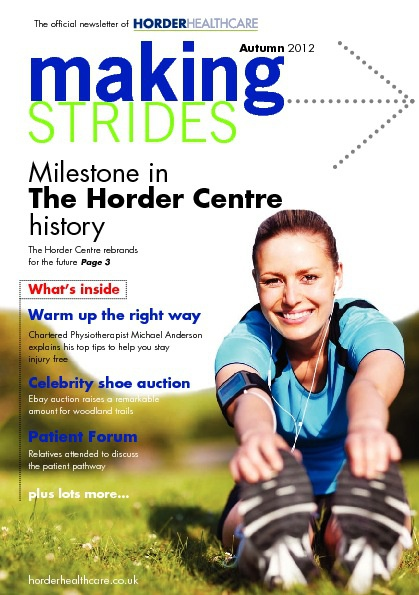 Autumn 2012 - Patient Newsletter