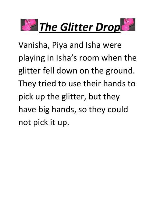 The glitter drop