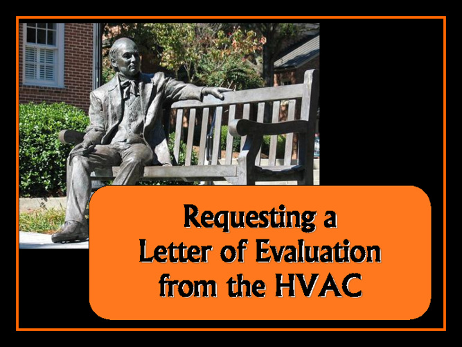 Requesting an LOE from the Health Vocations Advisement Committee
