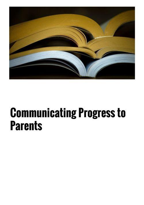 Communicating Progress 3