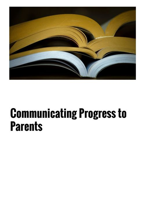 Communicating Progress 1