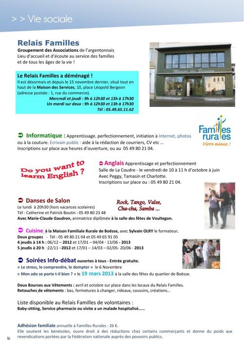 Bulletin Municipal pages 16 à 29