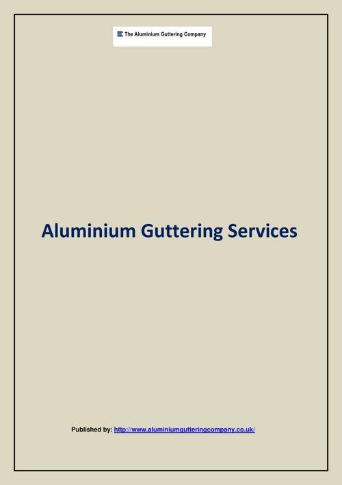 Aluminium Guttering Services