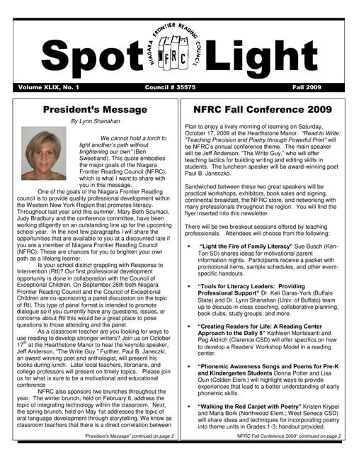 NFRC Spotlight_Fall 2009