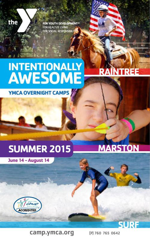 2015 YMCA Overnight Camp Brochure - Marston - Surf - Raintree
