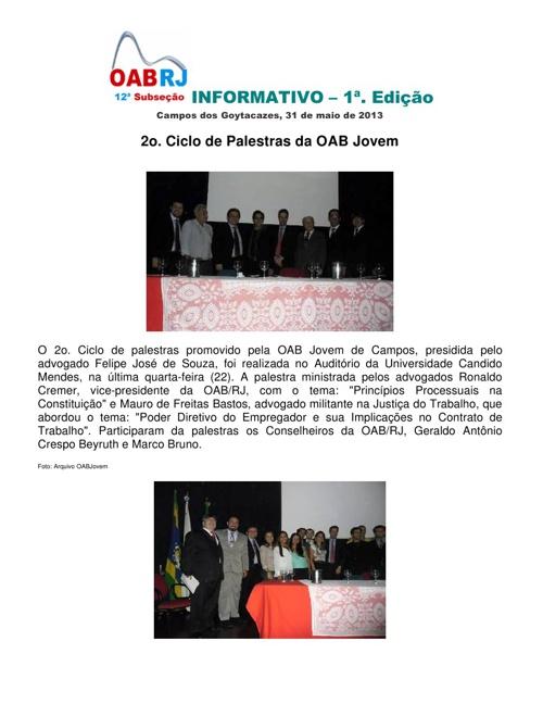 Informativo 12a. Subseção