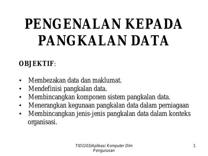 Nota Pangkalan data