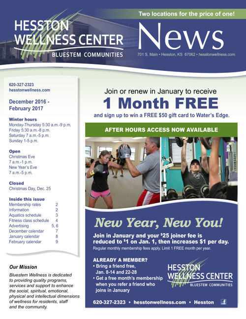 Winter 16-17 | Hesston Wellness Center News