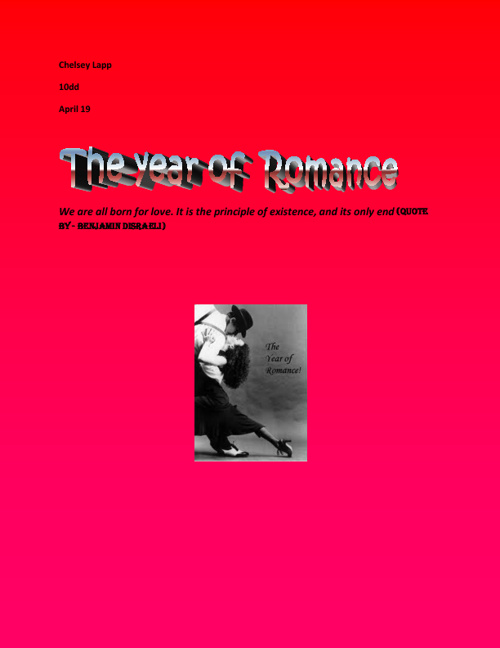 The Year of  Romance